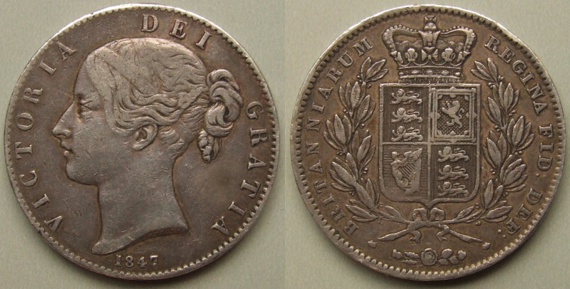 1847 Queen Victoria crown