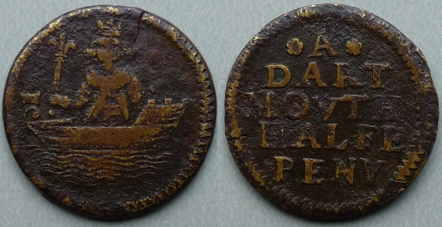 Dartmouth, town issue halfpenny token