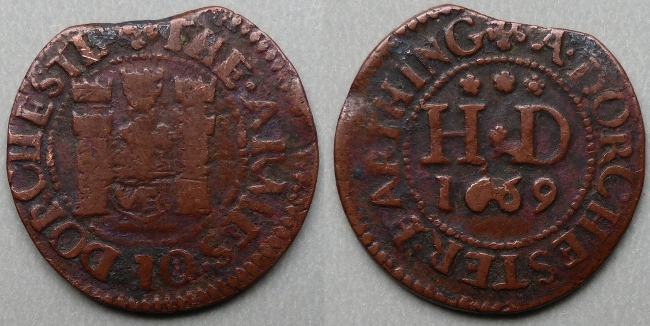 Dorchester, town issue 1669 farthing, N890