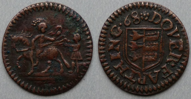 Dover, town issue 1668 farthing