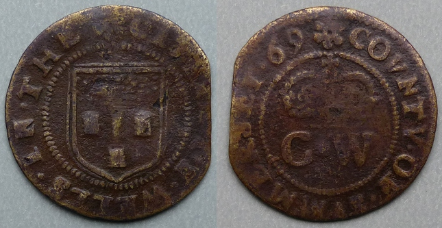 Wells, city issue 1669 farthing