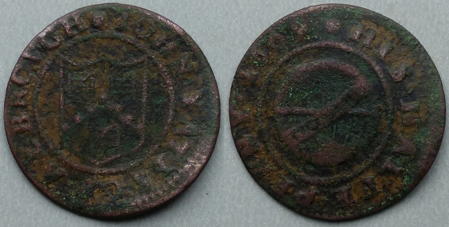 Aldbrough, John Yates 1669 halfpenny