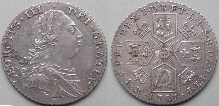 George Iii 1787 Shilling